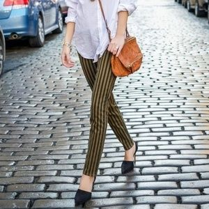 PAIGE Skyline Ankle Peg Jeans Olive London Stripes